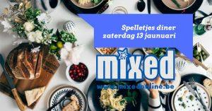 Spelletjes diner 13-01-2018