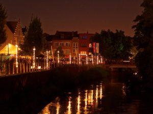 Sint Rochus-verlichting @ Standbeeld 'De stadsarbeiders'